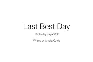 The written words by Amelia Cottle are a combination of writing from Brian Cottle's obituary and her journal entries.