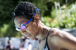 Shawn Brokemond takes a deep breath before getting into the pool Sunday, June 3, 2018, at the Strawberry Recreation District. Brokemond swam 5,000 meters during a workout in the morning, but offered to give a friend some pointers in the afternoon.