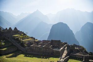 Sun shines over the ruins of Machu Picchu on Saturday, July 30, 2016.